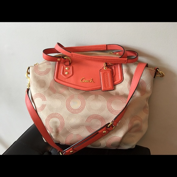 Coach dotted OP Art North South Bag
